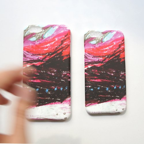 Yinke make your phone like a painting: the deep light texture phone shell / red (full color printing soft-shell) iphone full range of various types of customized &