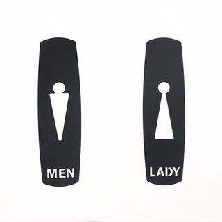 Graceful stainless steel toilet signage meets unique field requirements, bathroom dressing room listing