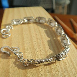[hand made silver ornaments] six-character sterling silver bracelet