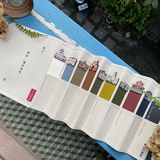 Beech Wooden Bookmarks - Read City Synthetic Canvas Set