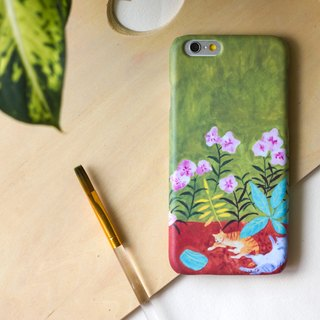 The two cats are playing under the tree(Yellow and Green). Matte Case (iPhone, HTC, Samsung, Sony)