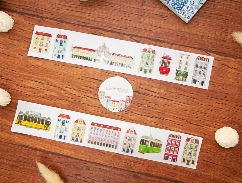 Lisbon mini house washi tape