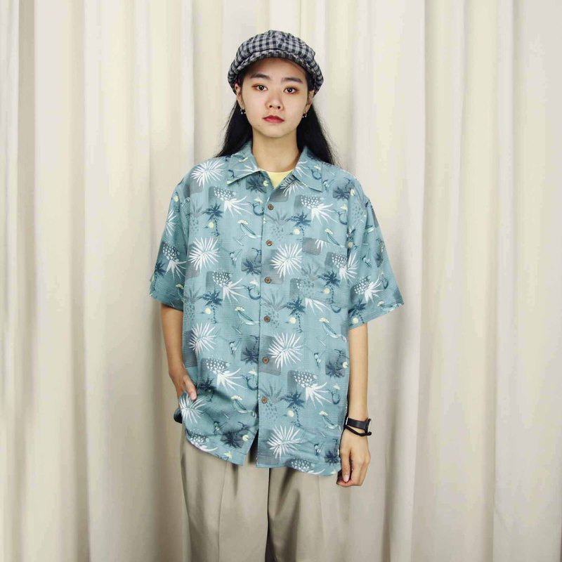 Tsubasa.Y Ancient House 008 Pineapple Iced Tea Hawaiian Shirt, Flower Shirt Print Summer Top