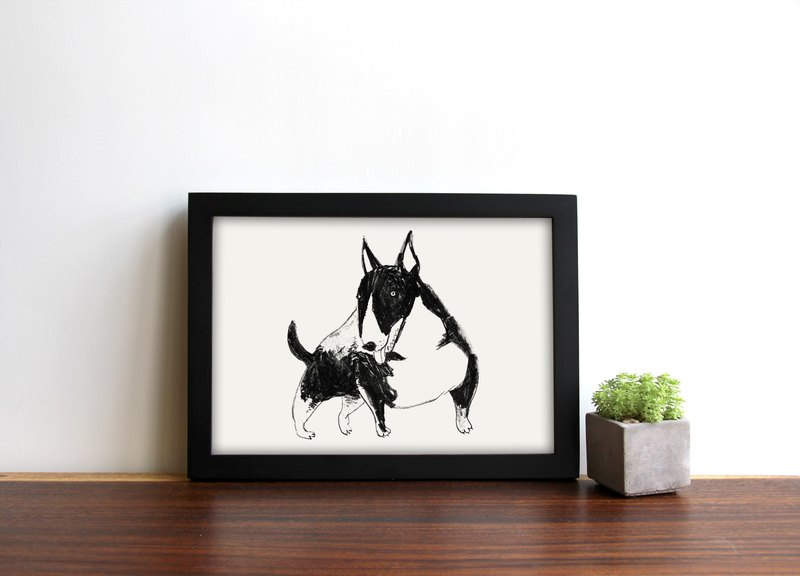Digital print |  Bull Terrier Dog