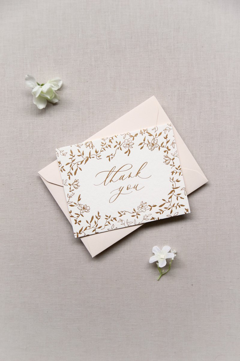 Tinge & Flourish Hot Stamping Thank you card Thank you card