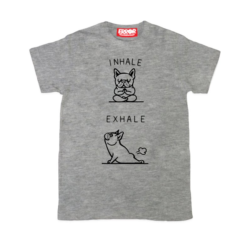 PUG Life • Inhale Frenchie ( Grey ) • Unisex T-shirt