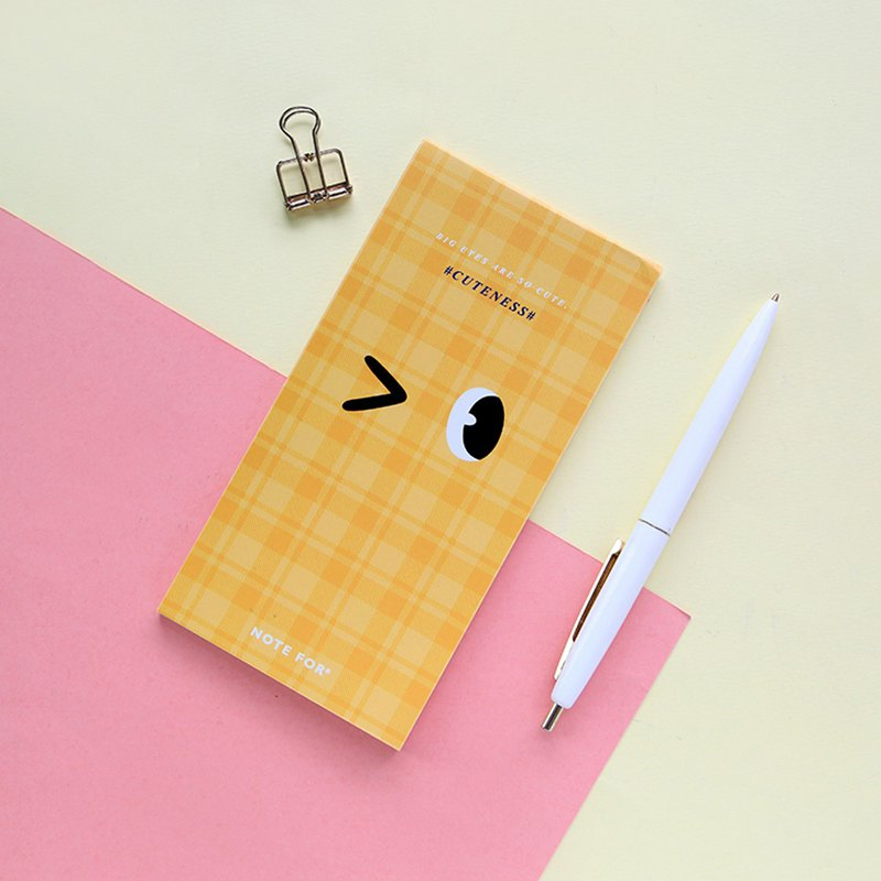 NOTE FOR pattern note big eyes cute cute girl practical creativity can tear the book hand account material stationery