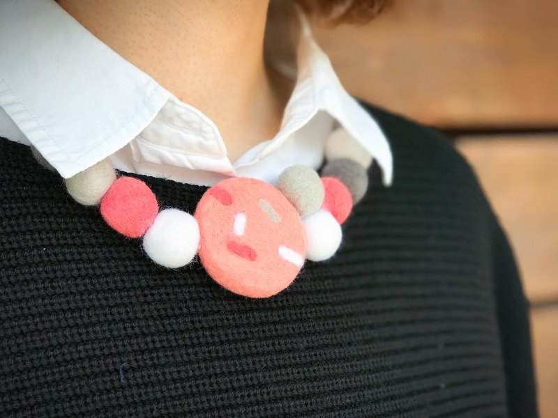 Needle Felted Statement Necklace