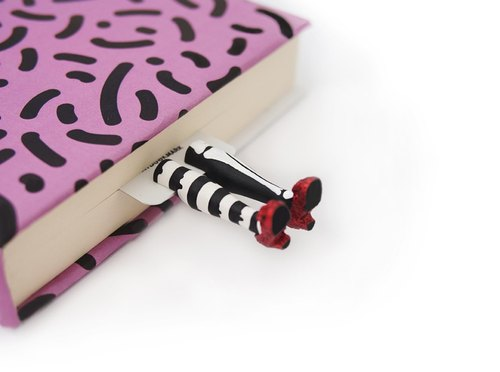 Wicked  witch with bones bookmark