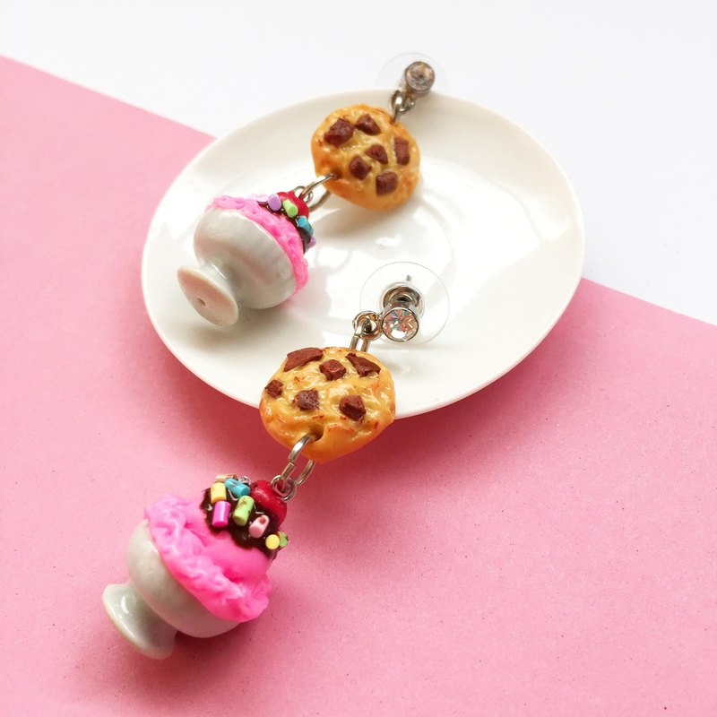 cookie & icecream earring