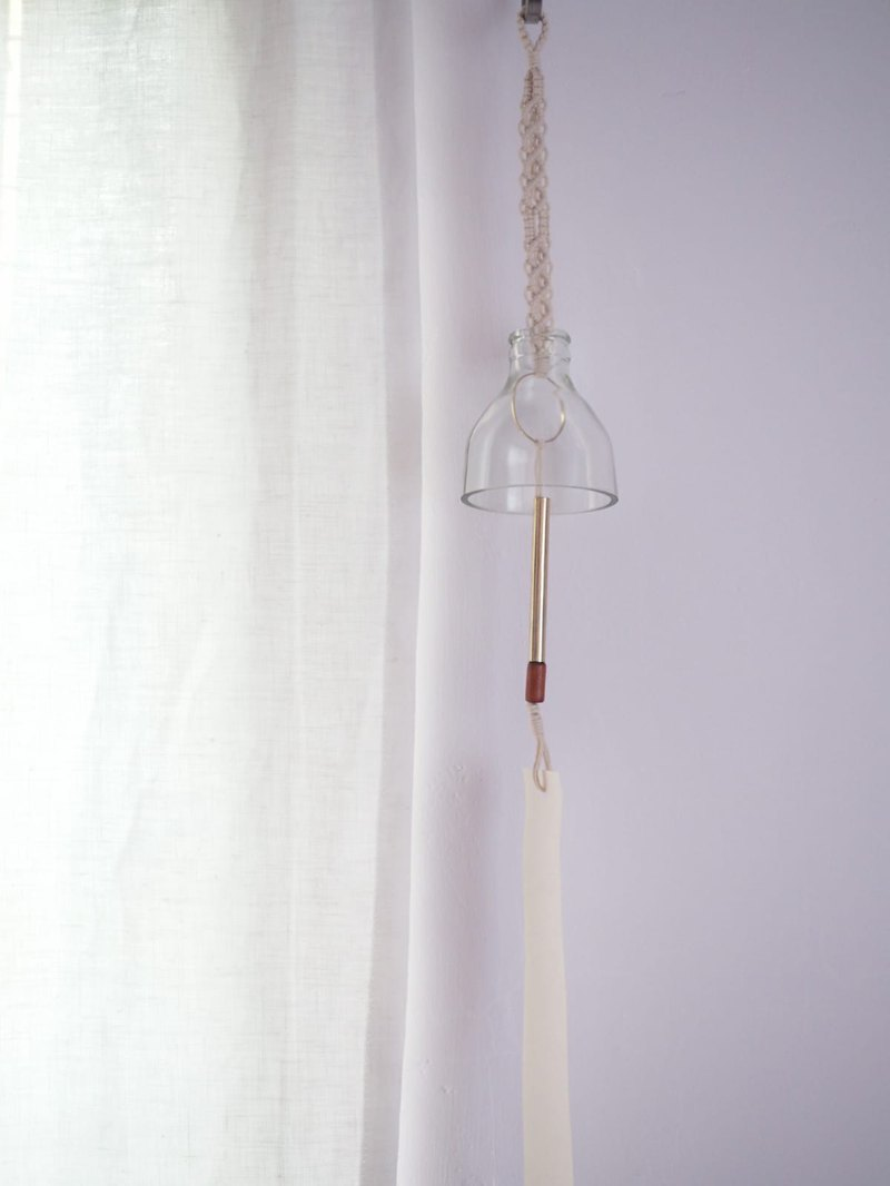 Woven glass wind chime