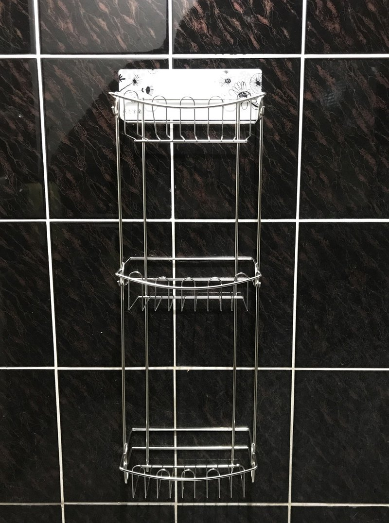 Free drilling, non-marking patch, stainless steel bathroom rack, kitchen rack, unique narrow body design, effective use of space