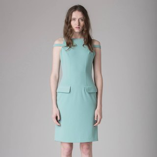 <Limited Time Offer to July 13> Lake Green Vest Short Dress - Hong Kong Original Brand Lapeewee
