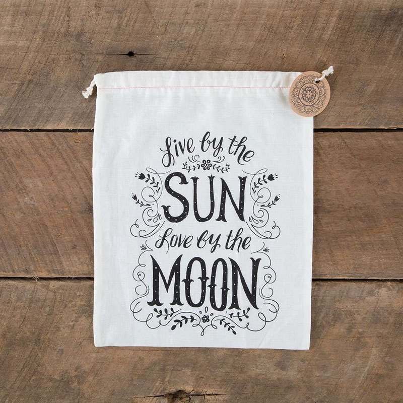 Cotton Gift Bag L-Sun/Moon∣GBAG058