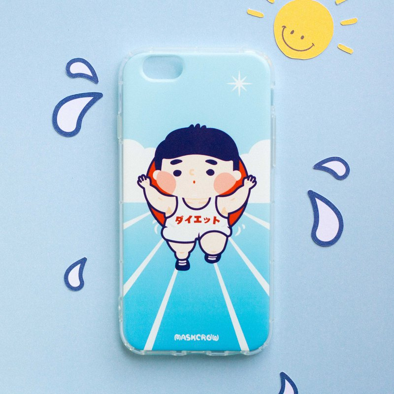 Chubby boy phone case / Soft air pressure case /  ios & android