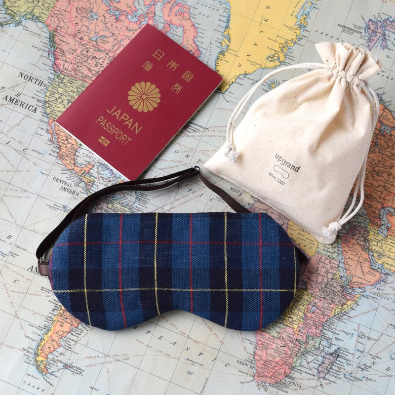 英國傳統格子/Navy/眼罩/旅遊/旅遊隨身物品