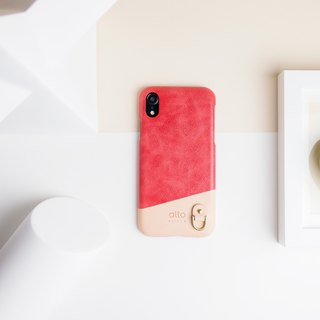 iPhone XR Anello Leather Case – Coral