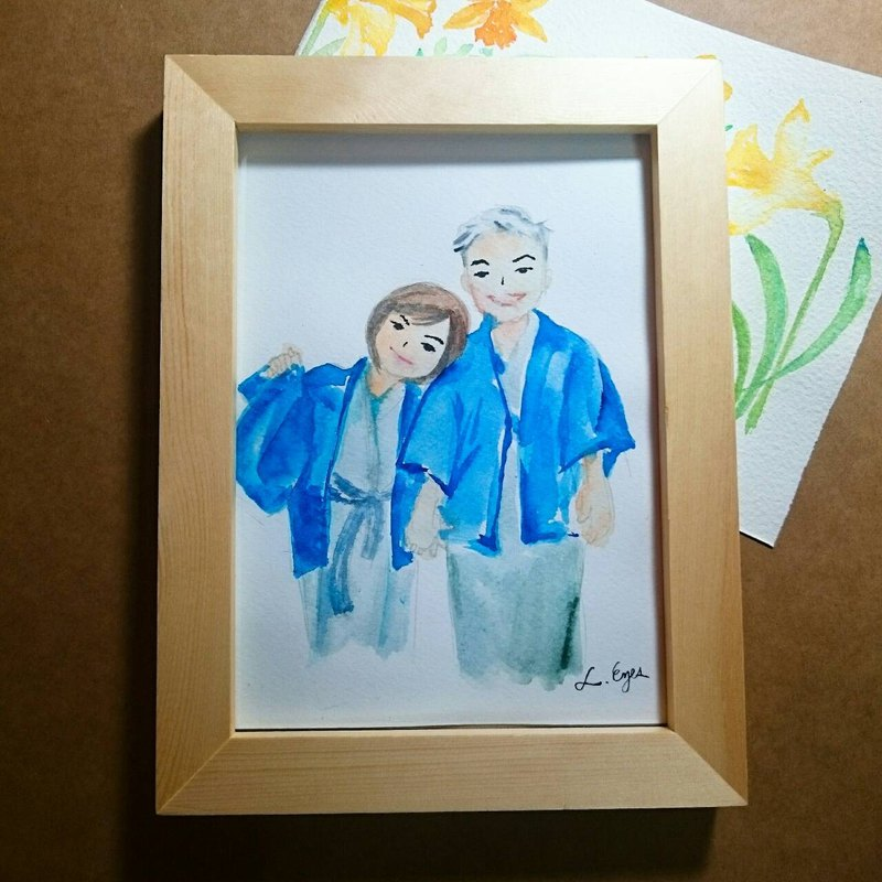 7 吋 original photo frame hand-painted portrait small love letter