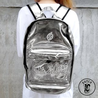 OUTER SPACE 10 anniversary space backpack (bright silver leather special section)