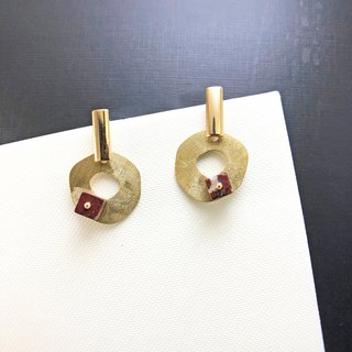 【Japanese Style】925 Silver Earrings【Birthday Gift】【 Brass Earrings】Stone