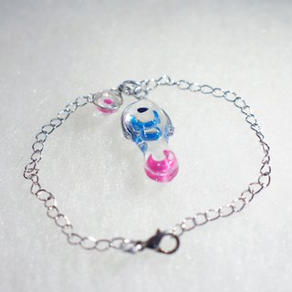 Fish and water _ transparent resin _ bracelet _ cute route _ hand fish with you shopping