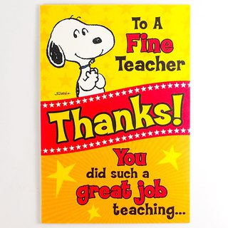 Snoopy wants to thank the teacher [Hallmark- Card Teacher's Day]
