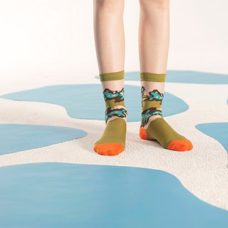 Mudpots Olive Sheer Socks | transparent see-through socks | colorful fun socks