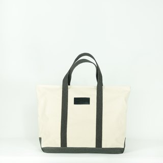 Boat bag - natural white/black