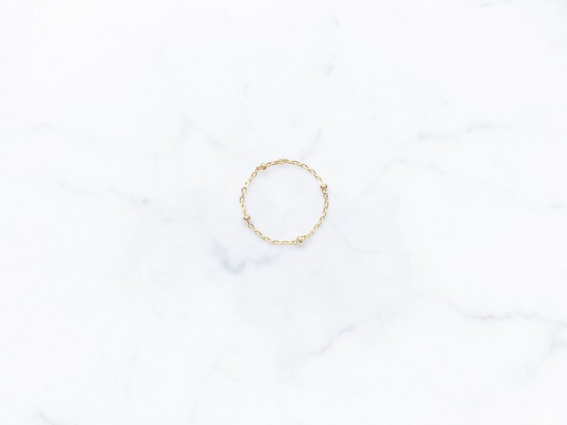 . Material upgrade revision. ::Golden Christmas :: Mini Golden Ball American 14kgf Chain Ring