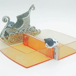 Magnetic Dressing Sticker_ Double In - Flat + Flat High Storage Box - Orange