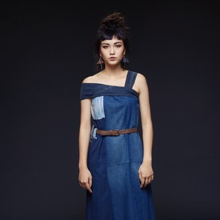 PHASE OF WATER upcycling denim dress