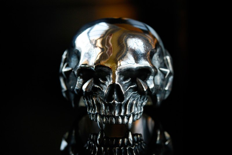 Angry Rings 925 Silver FURY SKULL RING