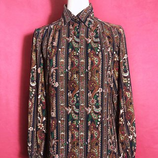 Complex totem long-sleeved vintage shirt / brought back to VINTAGE abroad