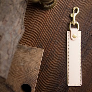 Multifunction Leather Keyring Keychain Stand - Natural - Reel, Stand -