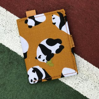 Washable Craft Paper . Fabric /Panda/ cardholder