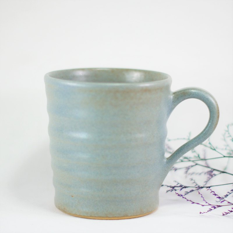 Matte denim blue wave cup, coffee cup, teacup, cup, mug - capacity about 270ml