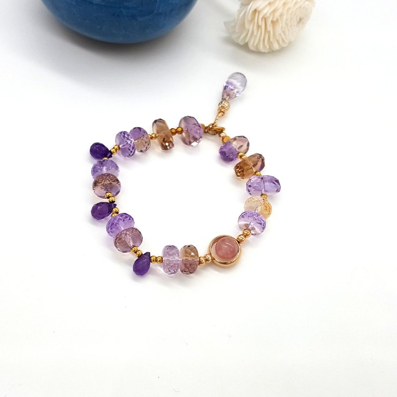 Crystal girl world - [Ametrine melody] Hand made natural crystal bracelet