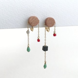 geometrhythm(clip-on earrings)