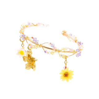 Sunshower Gold-plated Charm Bangle