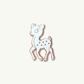 White Sika Deer Pin