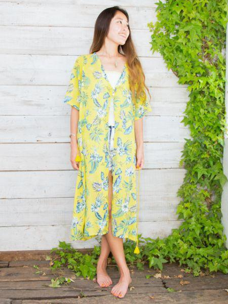 Hawaiian Maxi Cardigan