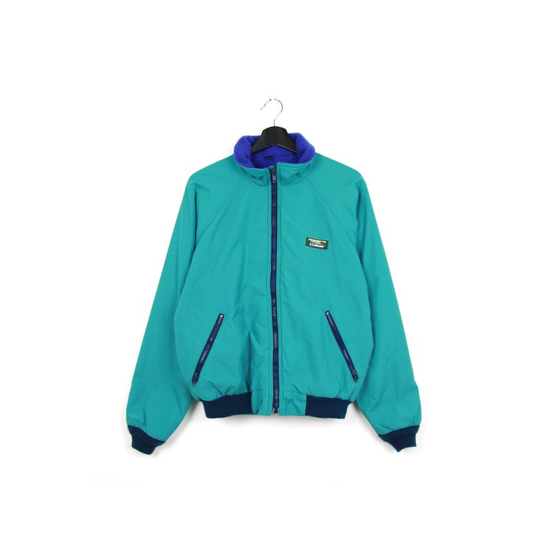 Back to Green:: LLBean Lapel Outdoor Jacket Turquoise Green // Jacket
