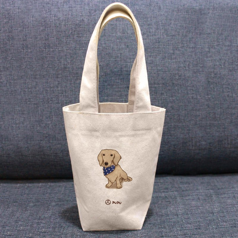 Sausage-sitting posture---Taiwan-made cotton linen-Wen Chuang Shijiao-environment-beverage bag-fly planet