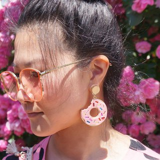 Doughnut Float Earrings