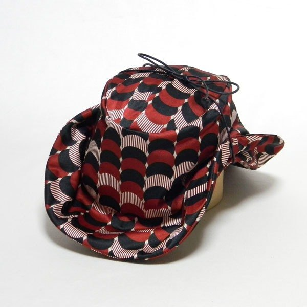 Retro print ten-gallon hat - Red (PS0395-Red)