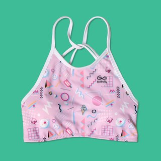 Hello Icecream High neck Sport bras
