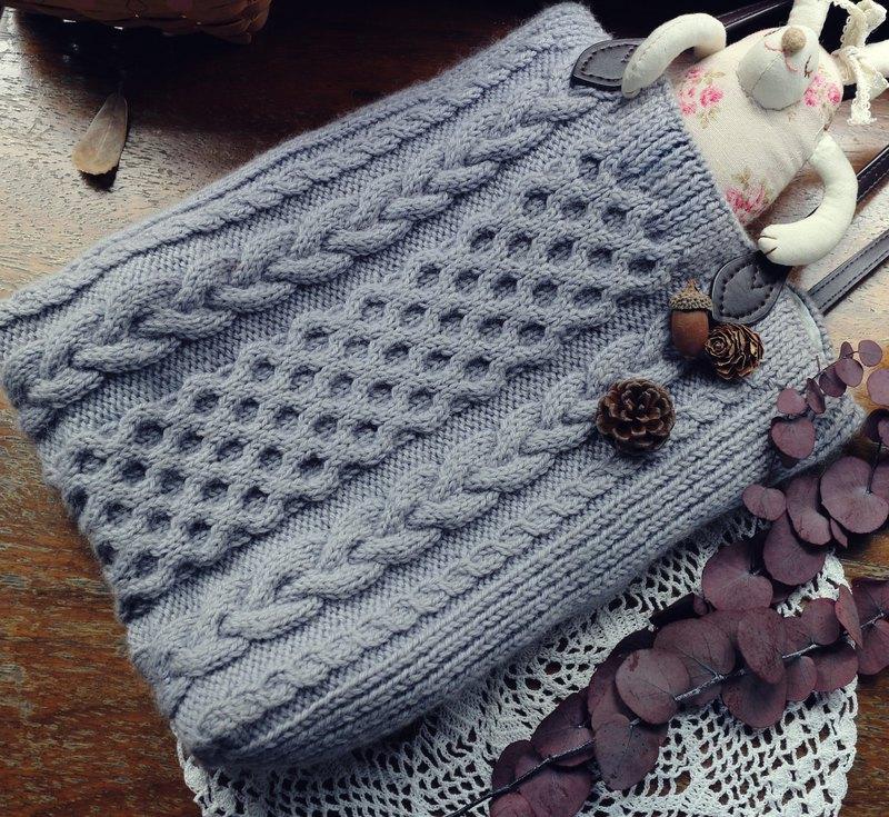 手作-雲雨霂霂-毛線編織包