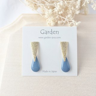 drop earrings blue denim