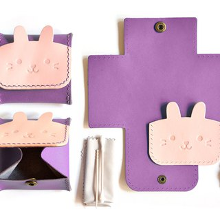 Fading Mist Leather DIY Kit - Rabbit Coin Bag