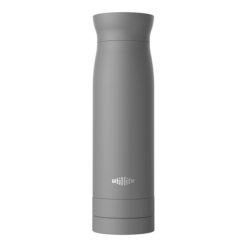 Lightweight thermos bottle / gray / 420ml